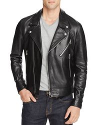 PS by Paul Smith - Black Leather Biker Jacket for Men - Lyst