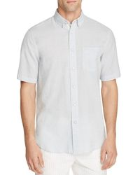 Rag & Bone - White Oxford Short Sleeve Button-down Classic Fit Shirt for Men - Lyst