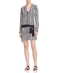 Equipment - Black Striped Shirt Dress - Lyst
