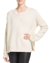 Vince - White Honeycomb Stitch Sweater - Lyst