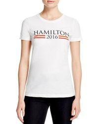 Hamilton - White 2016 Tee - Lyst