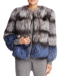 Maximilian | Black X Michael Kors Nafa Fox Fur Jacket - 100% Exclusive | Lyst