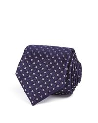 Theory - Blue Square Grid Skinny Tie for Men - Lyst