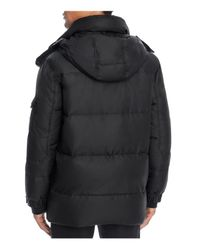 S13/nyc Black Matte Downhill Hooded Jacket for men