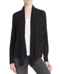 Aqua | Multicolor Cashmere Drape Front Cashmere Cardigan - 100% Exclusive | Lyst