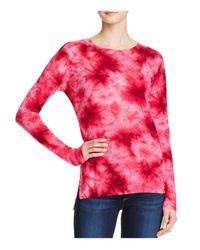 Aqua | Pink Cashmere Tie Dye Crewneck Cashmere Sweater - 100% Exclusive | Lyst