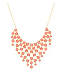 Sparkling Sage - Metallic Stone Bib Statement Necklace - Compare At $117 - Lyst