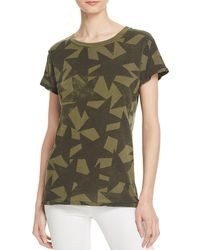 Current/Elliott - Green The Crewneck Star Print Tee - Lyst
