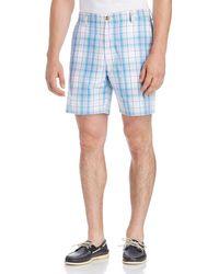 Vineyard Vines Blue Plaid Breaker Shorts for men