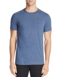 Theory - Blue Nebulous Cotton Pocket Tee - 100% Bloomingdale's Exclusive for Men - Lyst