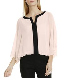 Vince Camuto - Pink Two Tone Batwing Blouse - Lyst