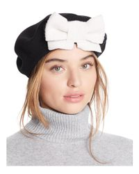 Helene Berman - Multicolor Beret With Bow - Lyst