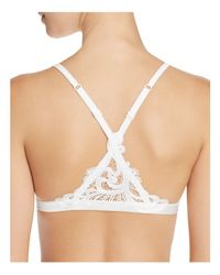 La Perla - White Windflower Sheer Triangle Bralette #lpd906640 - Lyst