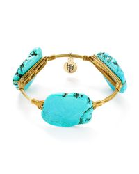 Bourbon and Boweties - Blue Howlite Bangle - Lyst