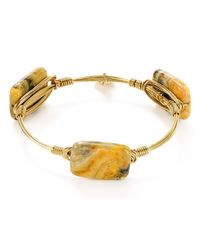 Bourbon and Boweties | Metallic Agate Bangle | Lyst