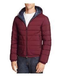 Herno | Blue Reversible Down Jacket for Men | Lyst