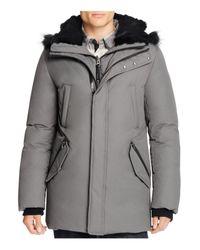 Mackage - Gray Edward Fur Trim Hooded Jacket for Men - Lyst