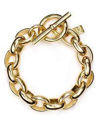 Pink Pony | Metallic Lauren Oval Link Chain Bracelet | Lyst