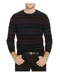 Polo Ralph Lauren Black Fair Isle Wool Blend Sweater for men