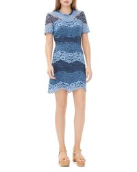 Sandro - Blue Rebecca Lace Dress - Lyst