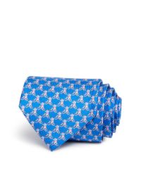 Ferragamo | Blue Elephant On Bicycle Classic Tie for Men | Lyst