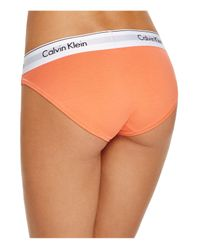 Calvin Klein - Orange Bikini - Modern Cotton #f3787 - Lyst