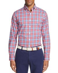 Vineyard Vines   Red Gilberts Pond Plaid Tucker Slim Fit Button-down Shirt for Men   Lyst