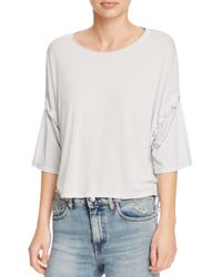IRO | Gray Lago Lace-up Top | Lyst