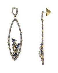 Alexis Bittar | Metallic Spiked Crystal-encrusted Gemstone Cluster Drop Earrings | Lyst