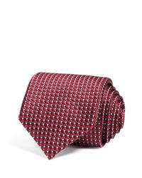 Canali - Red Micro Diamond Classic Tie for Men - Lyst