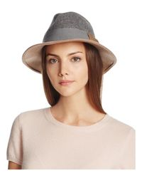 Bettina | Natural Two Tone Wool Fedora | Lyst