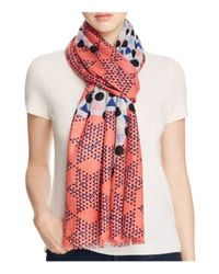 Yarnz   Red Chinese Checkers Scarf   Lyst