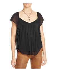 Free People | Black Forever And Always Top | Lyst