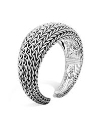 John Hardy | Metallic Sterling Silver Classic Chain Domed Kick Cuff | Lyst
