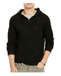 Polo Ralph Lauren - Black Cotton Jacquard Pullover Hoodie for Men - Lyst
