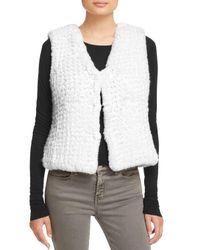 Aqua | White Knit Faux Fur Vest - 100% Exclusive | Lyst