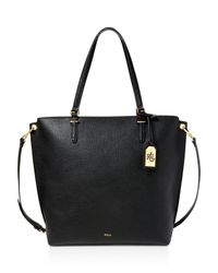 Ralph Lauren - Black Medium Faux-leather Abby Tote - Lyst