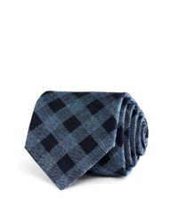 W.r.k. | Blue Donegal Grid Classic Tie for Men | Lyst