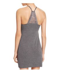 Pj Salvage - Gray Lace Trim Chemise - Lyst
