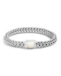 John Hardy | Metallic Sterling Silver Classic Chain Bracelet With Bone | Lyst