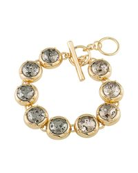 ABS By Allen Schwartz - Metallic Toggle Bracelet - Lyst