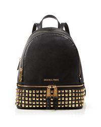 MICHAEL Michael Kors | Multicolor Small Rhea Zip Studded Backpack | Lyst