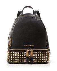 MICHAEL Michael Kors   Multicolor Small Rhea Zip Studded Backpack   Lyst