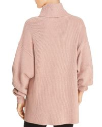 Free People Purple Relaxed Turtleneck Sweater