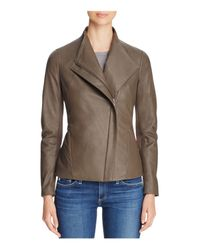T Tahari | Brown Kelly Leather Jacket | Lyst