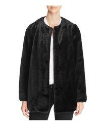 Vince Camuto - Black Faux Fur Coat - Lyst