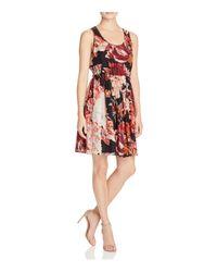 Elizabeth and James   Red Ivy Printed Silk Dress   Lyst