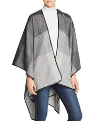 Aqua | Gray Ombre Ruana With Leather Trim - 100% Exclusive | Lyst