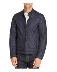 Belstaff | Blue Bramley Quilted Moto Jacket for Men | Lyst
