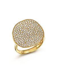 Ippolita | Metallic 18k Yellow Gold Glamazon Stardust Flower Ring With Diamonds | Lyst